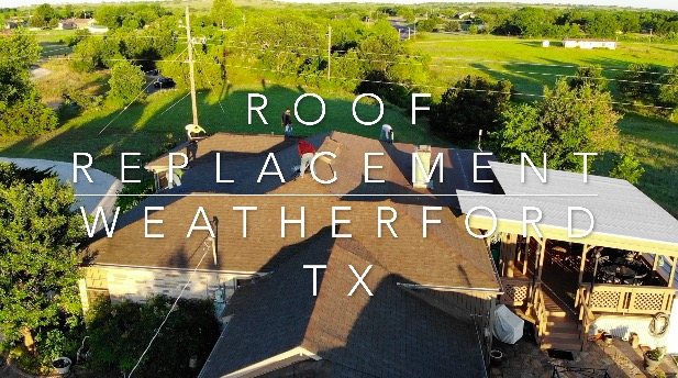 Roof replacement services for Weatherford